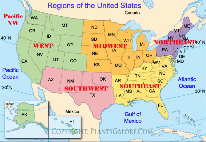 Map Of The Us By Regions.Regions Of The United States